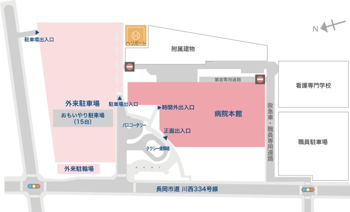 アクセスマップ_外来駐車場