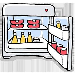 イラスト-冷蔵庫